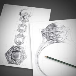 Drawn jewelry jewelry design
