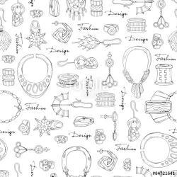 Drawn jewelry vector