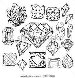 Drawn jewelry vector art