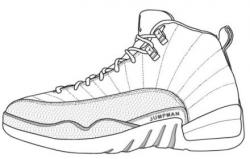 Drawn sneakers jordan shoe