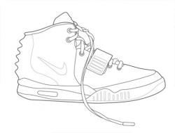 Drawn sneakers air yeezy 2
