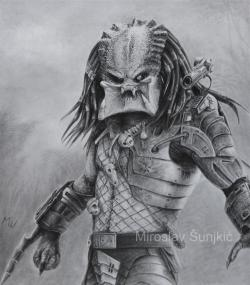 Drawn predator pencil