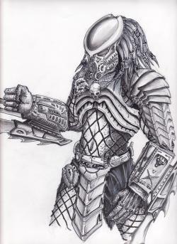 Drawn predator predator mask