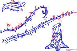 Drawn ivy flower vine
