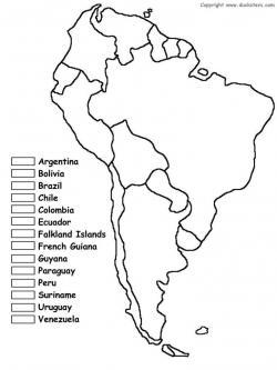 Drawn map south america