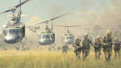 Drawn helicopter vietnam war