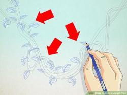 Drawn ivy jungle