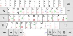 Drawn keyboard german