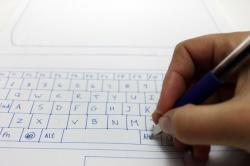 Drawn keyboard paper