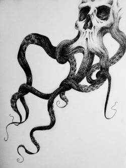 Drawn squid old school
