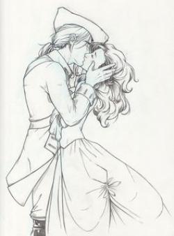 Drawn kiss john