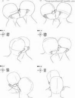 Drawn kiss tongue kiss