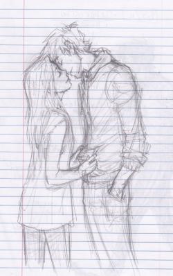 Drawn kissing sweet