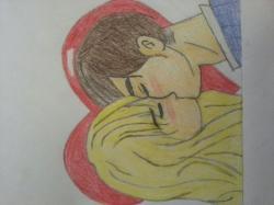 Drawn kissing james