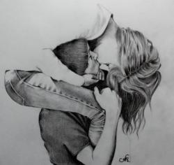 Drawn kisses sweet