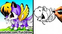 Drawn wings cute