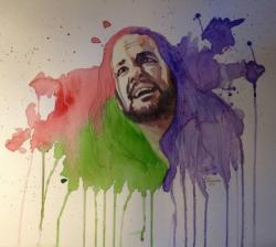 Drawn korn watercolor
