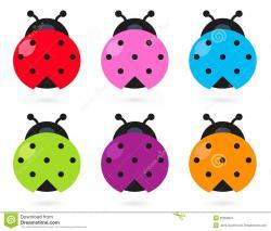 Colorful clipart ladybug