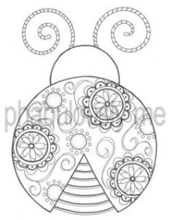 Drawn ladybug doodle
