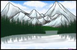 Drawn lake