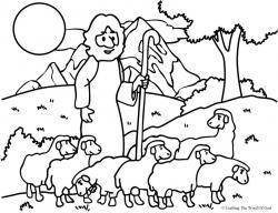 Shepherd Boy clipart lost sheep