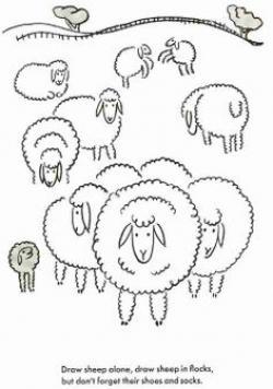 Drawn lamb doodle