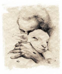 Drawn lamb jesus