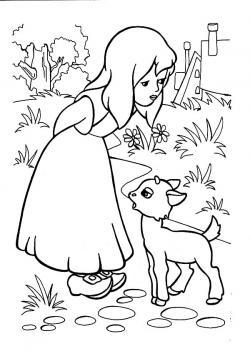 Drawn lamb little lamb