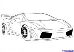 Lamborghini clipart line drawing