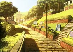 Drawn scenic anime