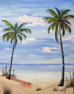 Drawn scenic beach