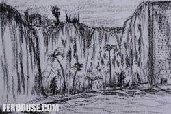 Drawn cilff cliff edge