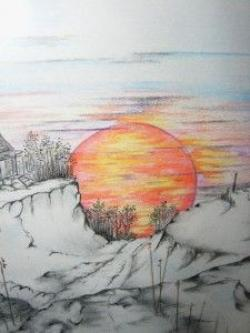Drawn sunset