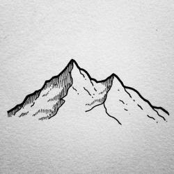 Drawn mint mountain