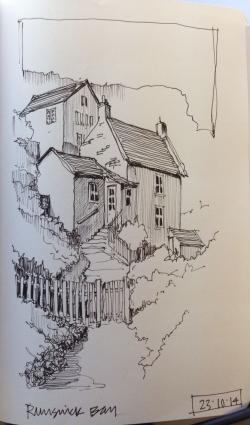 Drawn hill sketch