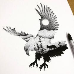 Drawn tattoo animal