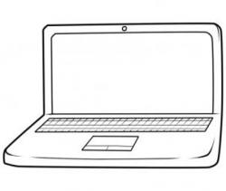 Drawn laptop