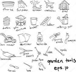 Drawn lawn doodle