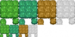 Drawn grass sprite sheet