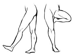 Drawn legs