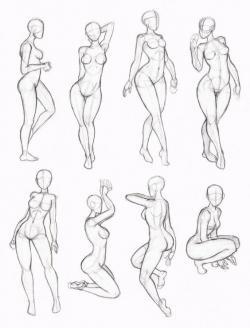 Drawn figurine pose