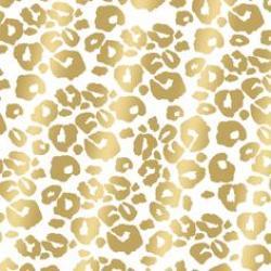 Drawn leopard skin gold