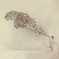 Drawn smokey jaguar