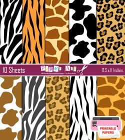 Drawn leopard skin zebra print