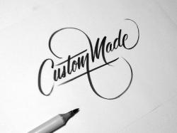 Drawn lettering