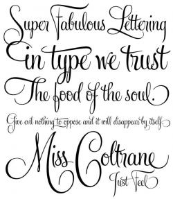 Drawn lettering stylish