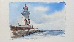Drawn lighhouse beginner