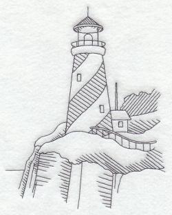 Drawn lighhouse doodle