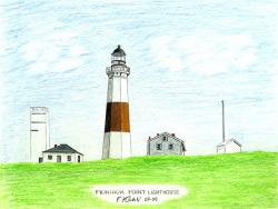 Drawn lighhouse montauk lighthouse