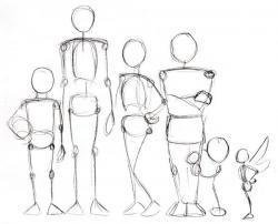 Drawn figurine simple human